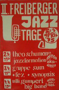 Plakat aus der Gründungszeit mit Jazzgrößen 1975